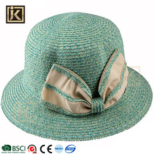 JAKIJAYI custom wide brim straw hat paper straw bucket sun beach ladies hat to decorate