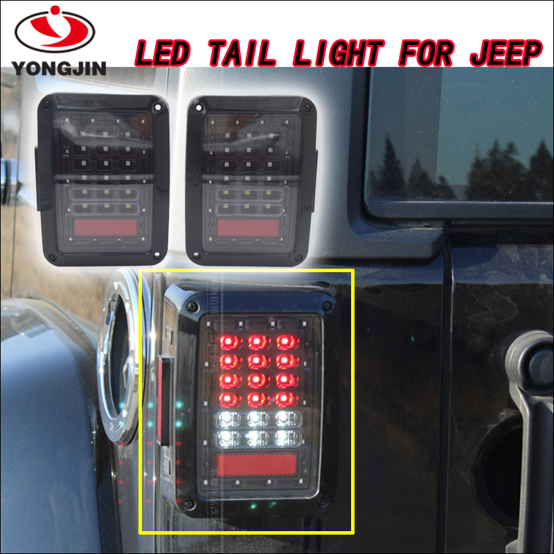 Red yellow led rear lamps 12v 24v led tail light for jeep cherokee
