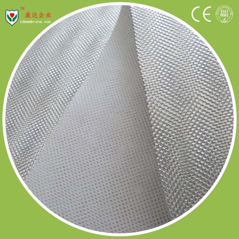 High breathability membrane with metalized surface for building wall