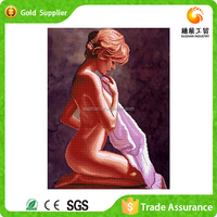 Wholesale price attractive rhinestone 5d painting beautiful nude women painting