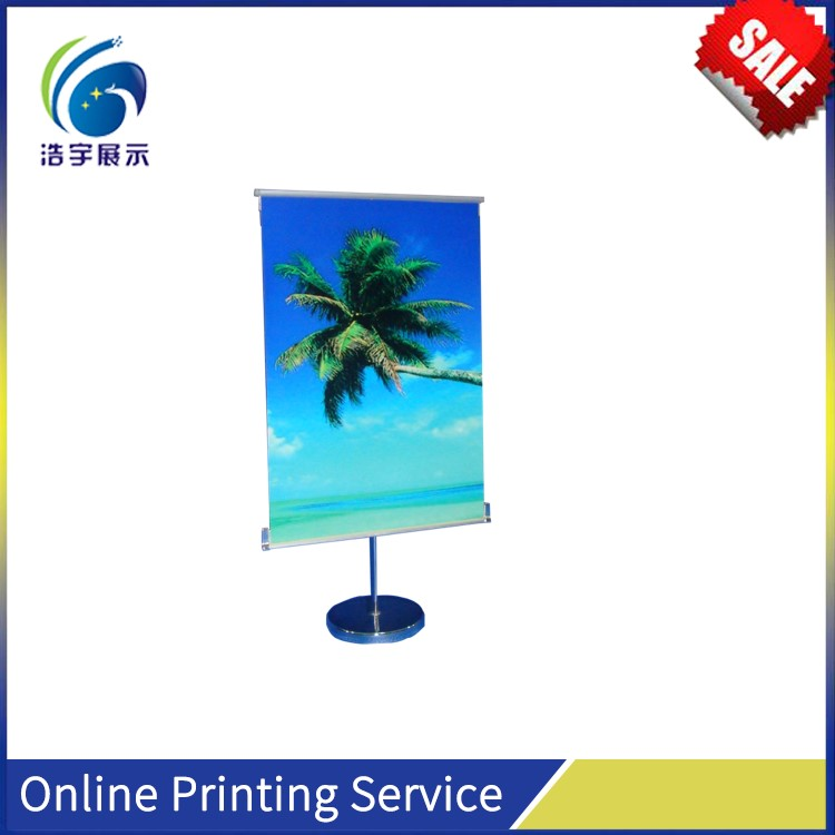Advertising Equipment Folding Aluminum Telescoping Pole Three Cross Base Outdoor Picture Shelf Display
