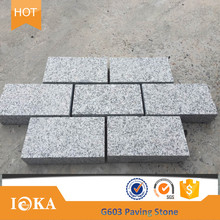 Driveway paving bricks Chinese rectangular granite parking lot