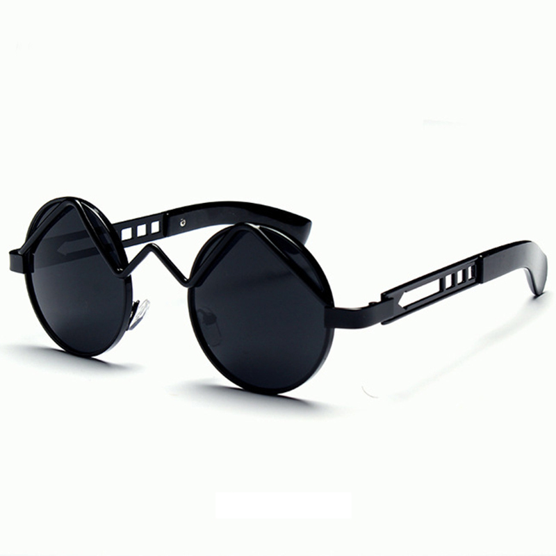 Euro-American Personality Punk Sunglasses Women/Man Vintage Retro Round Hollow Frame