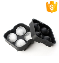 Practical Size FDA Durable Cooling Drinks Whiskey Silicone Ice Balls Mold