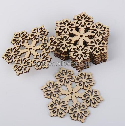 SD-044 <strong>Christmas</strong> Ornaments Decorations Wood Shapes Snowflake