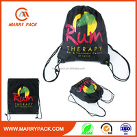 polyester double drawstring promotional sports bag