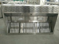 Stainless steel commercial kitchen cooking exhaust range hood