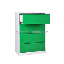 OEM office furnuiture 4 drawers colorful hanging filing cabinet