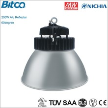 200W ip65 led high bay light 20000lm ve may bay gia re Nichia chip hot swap bay