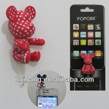 couple design ear cap for iphone headphone jack plug cover