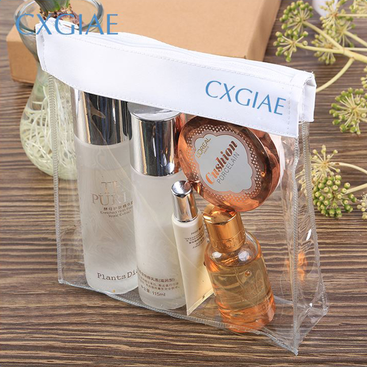 wholesale promotion ECO custom Waterproof beauty ladies private label makeup clear pvc cosmetic bag <strong>travel</strong>