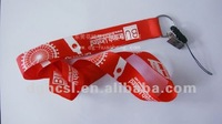 polyester neck lanyard with mobile phone holder lanyard (neck strap/key chain/mobile phone lanyard/)