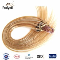 Double loop ring straight blonde brazilian wholesale hair extensions china
