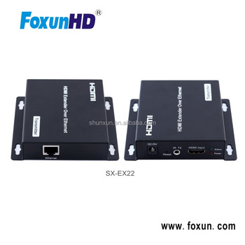 120m HDMI Extender, 1080p HDCP IR Remote Control Extender Use Ethernet Switches to Achieve Large Cascade