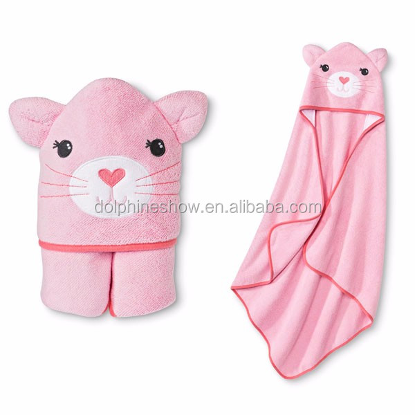 Eco Friend Baby Animal Reindeer Design Hooded Towel China Manufacturer Bath Towel