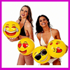 2016 Hot Selling Swimming Pool Fun Inflatable Emoji Beach Ball