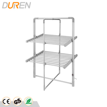 Electric foldable clothes dryer rack2 Tier Heated Airer with heat-shrinking