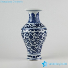 RZFU01-C72-08 Floral blue and white Jingdezhen Jiangxi factory outlet porcelain vase in cheap price