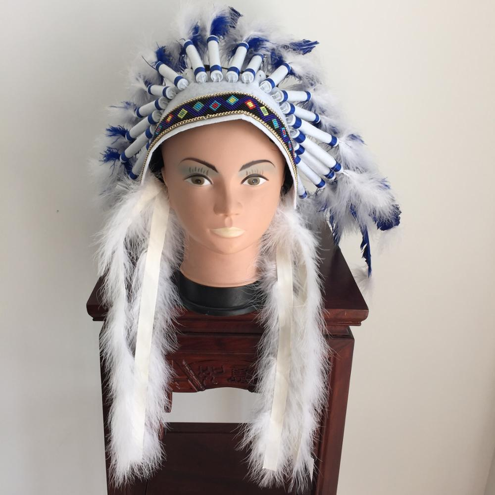 Carnival Native American indian showgirl feather headdress