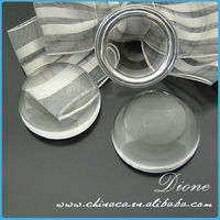 40mm Flat Round Glass Cabochon Dome beads! Clear Crystal Cabochon glass for Jewelry pendant inserts!