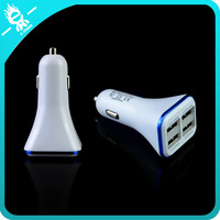 4 port usd mini portable universal phone car charger with different color