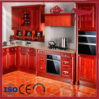 High quality cherry wood kitchen cabinets