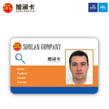 customized design double printing PVC photo ID Cards With T5577 for staffs