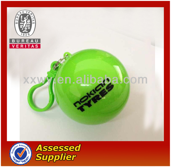 Disposable Raincoat In Ball With Customer Logo