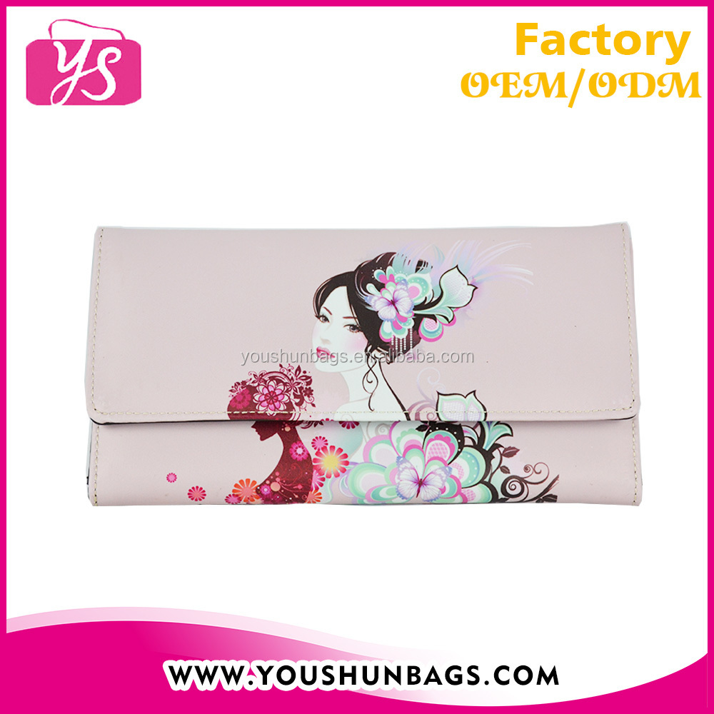 Digital printing CMYK fashion cheap latest design ladies purse