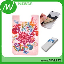 Waterproof Silicone Adhesive Card Holder for Phone
