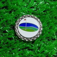 Amazing style 1.25 inch golf magnetic hat clip and ball markers in silver color