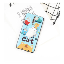 3D TPU cat Soft slow rising squishy silicone matte phone case