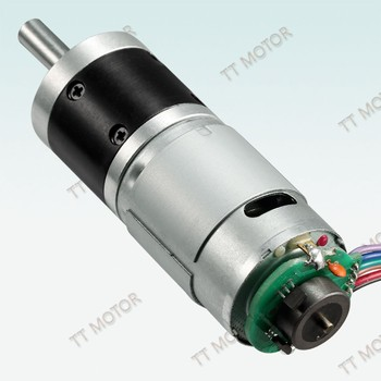planetary gearbox reducer 24v dc motor electric with encoder