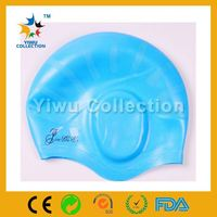 cheap shark swimming caps,cool swimming caps with ce certificate,supplies silicone cartoon swim caps in water sports
