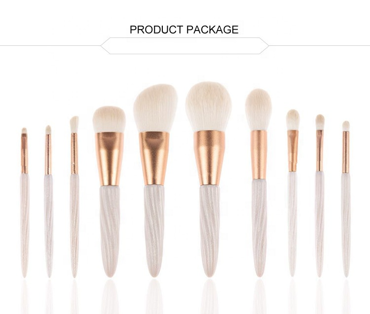 Novelty Luxury Your Own Brand Make Up Brush 10PCS Nylon Hair Makeup Brush Set For <strong>Beauties</strong>