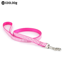 Heavy Duty Clip Classic Nylon Dog Leash with Colorful Ribbon Overlay for Small Medium Large Dogs and Puppies