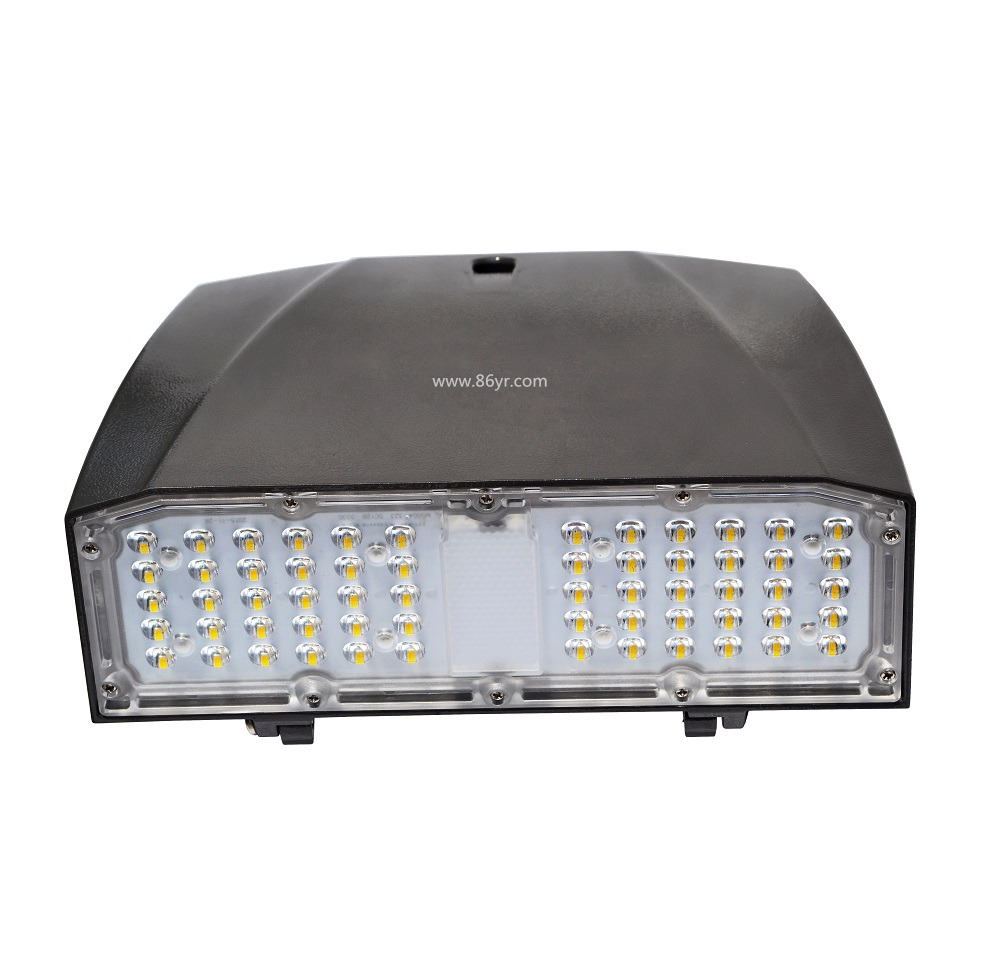Shenzhen Yaorong ETL DLC IP65 30w 60w new outdoor led wall pack light lamp could add photocell and microwave motion sensor