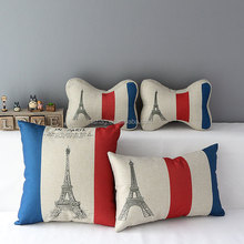 E-Series Eiffel Tower Direct from the manufacturer Colorful comfortable plush car or travel neck rest pillow