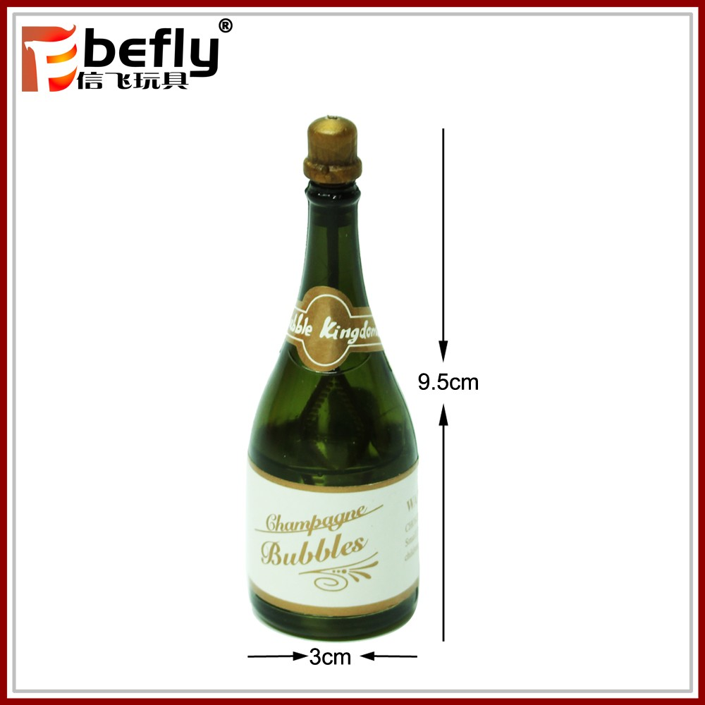 Mini gift favor plastic toy champagne wedding bubble bottle