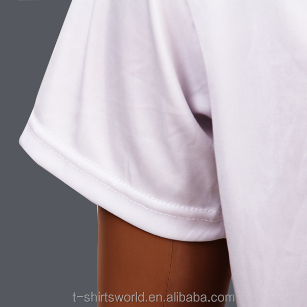 wholesale cheap bulk plain 100% white polyester t-shirt for sublimation printing