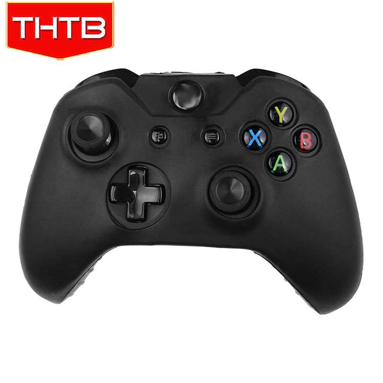 For Xbox One Controllers Black Dark Silicone Skin Cover Case