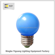 IC40S001 Low price colorful light 0.6 w led light E27 led bulbs red/blue/green/yellow light for christmas