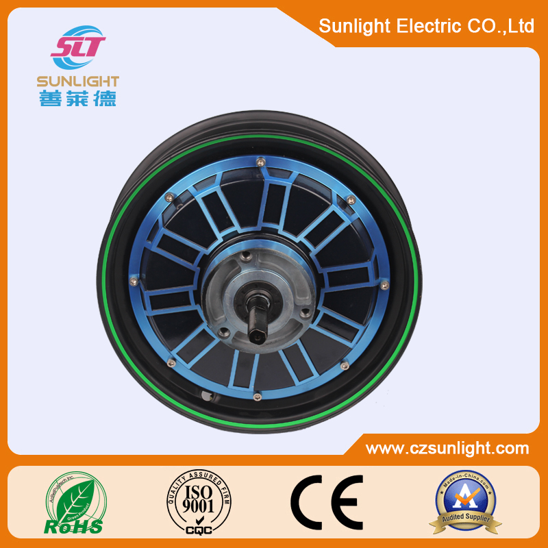 high fashion brushless gearless 1000w 60v electric motorcycle motor wheel