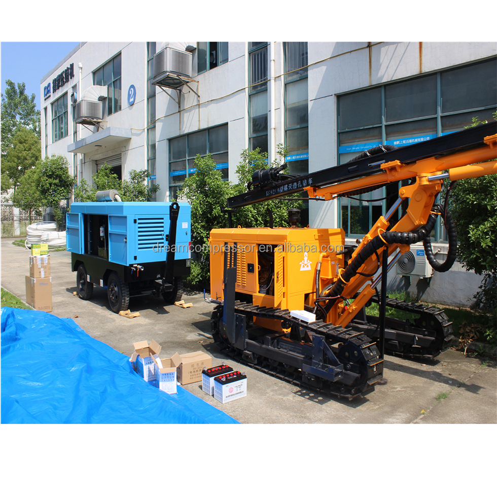 750cfm prices portable diesel air compressor ,water well drilling machine