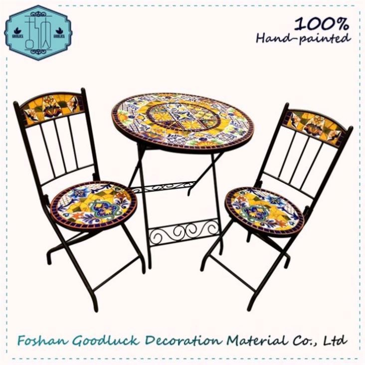 100 Hand Painted Garden Set Patio Outdoor Furniture Manufacturers Mexico
