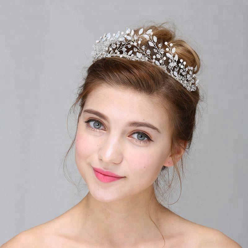 Pure Handmade Rhinestone Bridal Tiara <strong>Crown</strong> Headpiece Princess Wedding Crystal Bride <strong>Crown</strong>