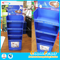 UNISO upscale cheap price new design chocolate product polypropylene hollow sheet tiered display stand