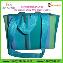 2014 Hot Sale Polyester Wholesale Cheap Wine Bags