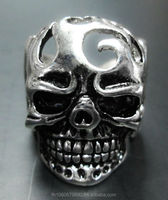 Ghost rider Unique Punk Gothic pewter ring Silver Fashion for mens women Wholesale Hot sale Biker Champion Supplier factory 2014