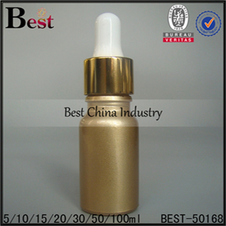 5 / 10 / 15 / 20 / 30ml gold electroplate essential oil glass bottle, high quality glass dropper bottle